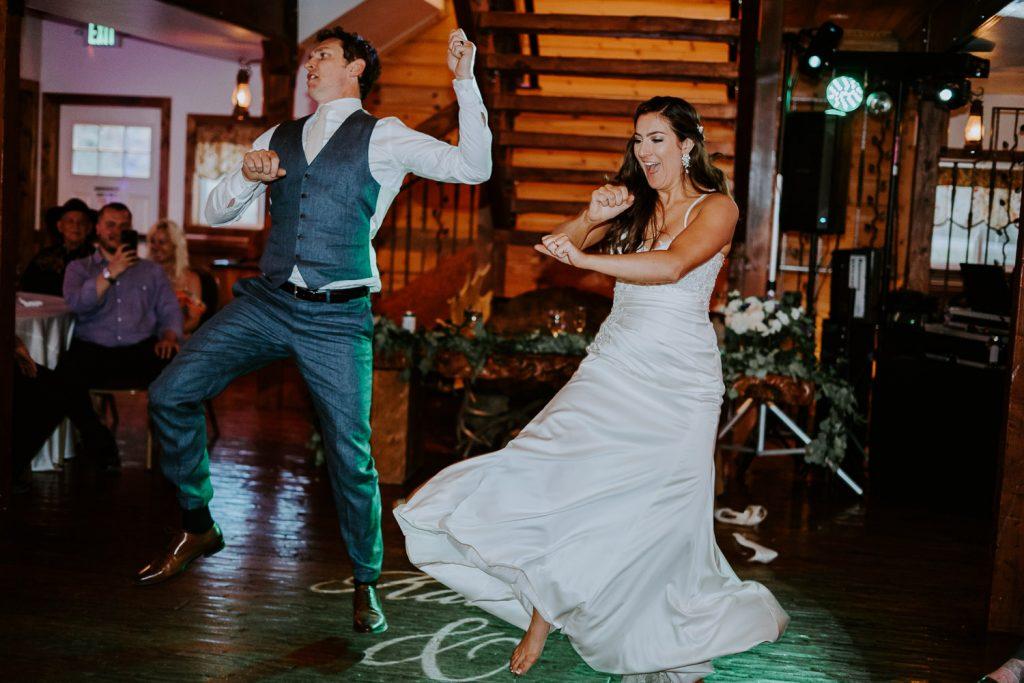 Deer Creek Valley Ranch, Colorado Wedding Photography, Intimate Wedding, bride groom dancing
