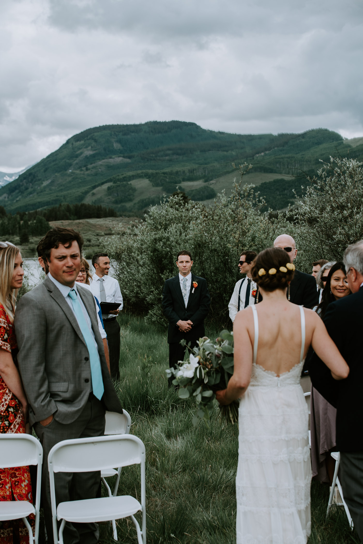 Colorado Wedding Photography, Intimate Wedding, Colorado elopement photography, crested butte wedding, walking down the aisle