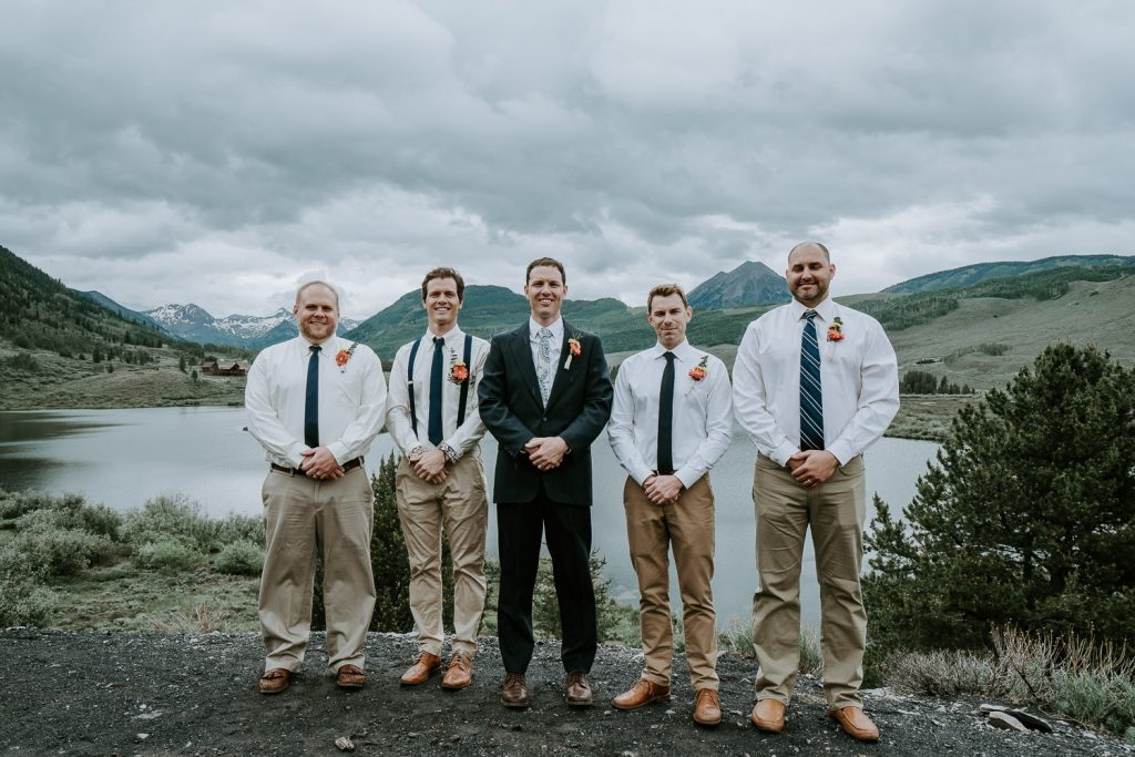 Colorado Wedding Photography, Intimate Wedding, Colorado elopement photography, crested butte wedding, groomsmen