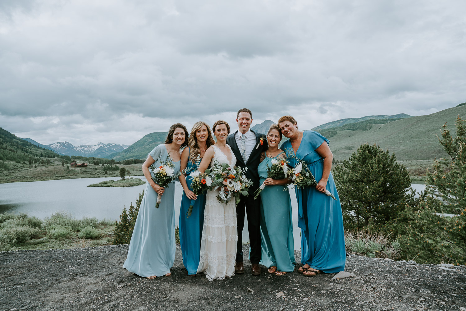 Colorado Wedding Photography, Intimate Wedding, Colorado elopement photography, crested butte wedding, bridal party