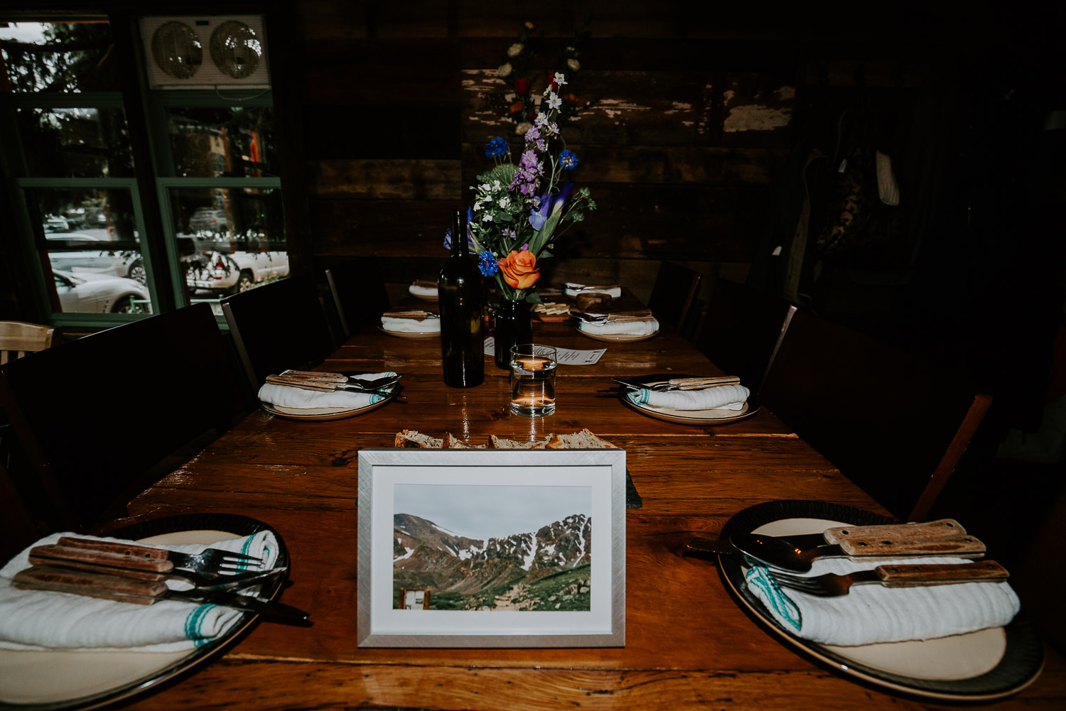 Colorado Wedding Photography, Intimate Wedding, Colorado elopement photography, crested butte wedding, table setting