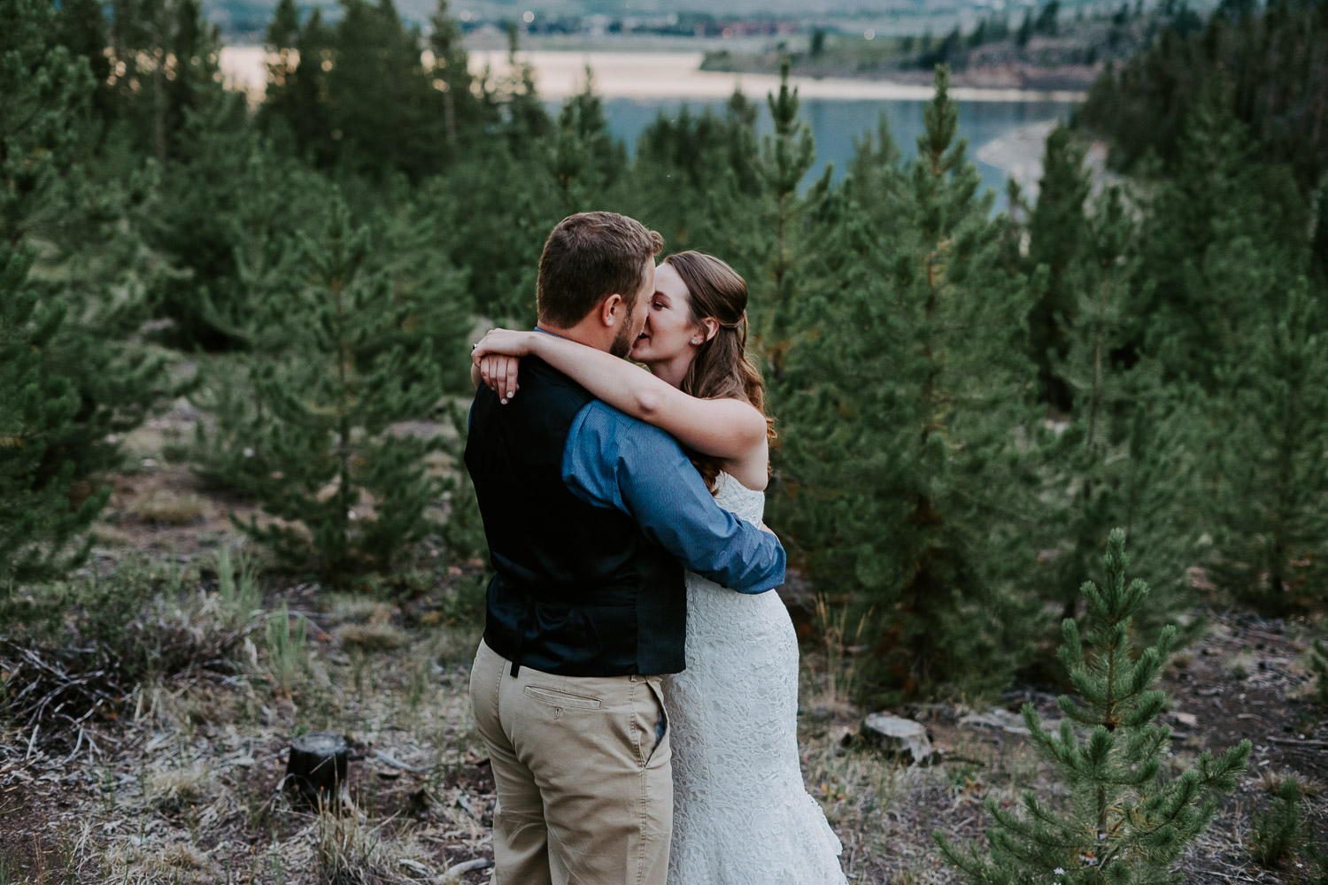 Colorado Wedding Photography, Intimate Wedding, Windy Point Campground, lake dillon, colorado elopement photography