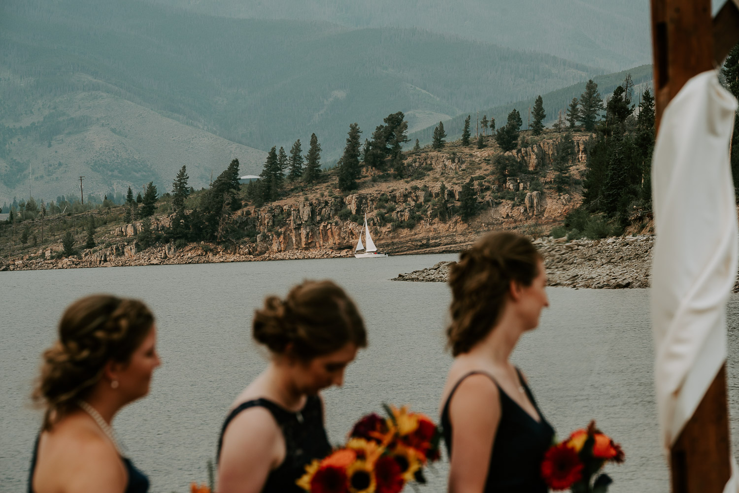 Colorado Wedding Photography, Intimate Wedding, Windy Point Campground, lake dillon, sail boat