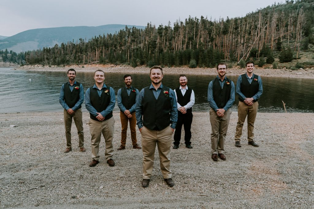 Colorado Wedding Photography, Intimate Wedding, Windy Point Campground, lake dillon, groomsmen