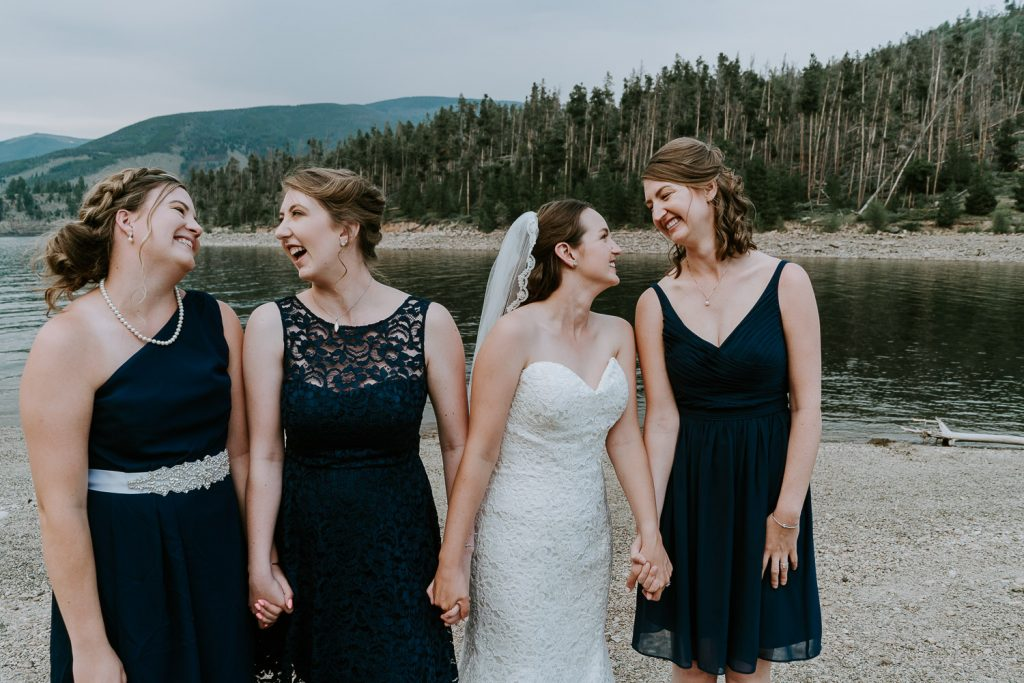 Colorado Wedding Photography, Intimate Wedding, Windy Point Campground, lake dillon, bridesmaids