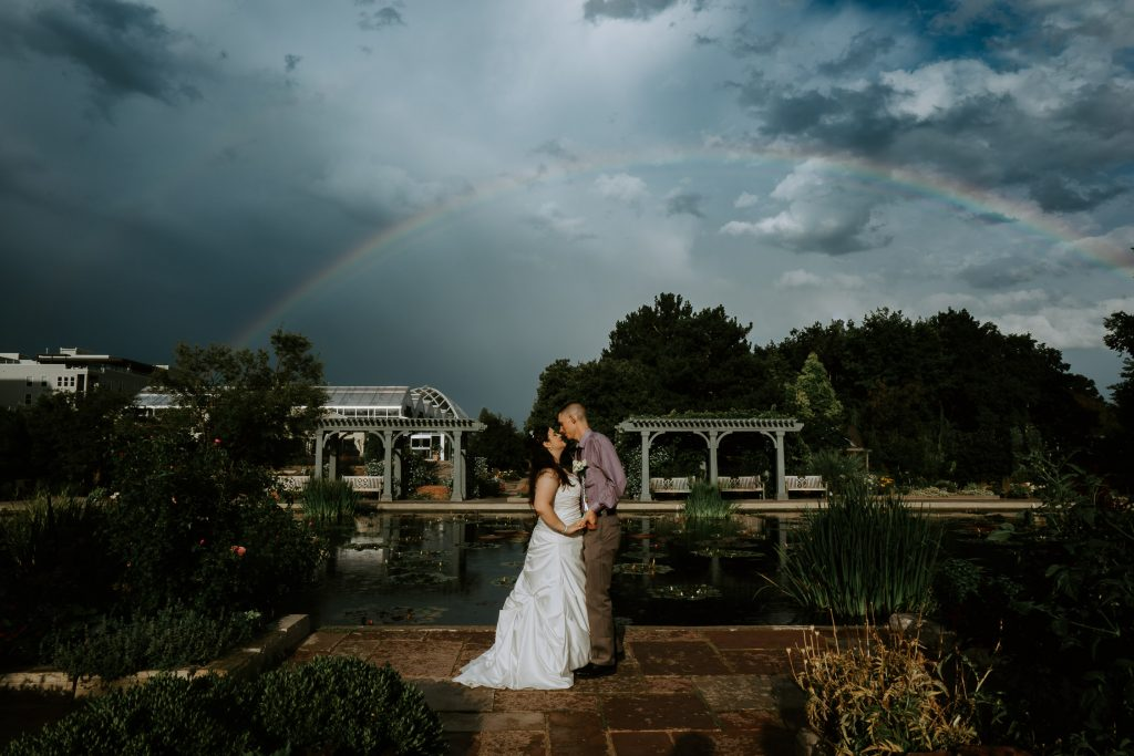 Colorado Wedding Photographer, Denver Botanic Gardens Wedding, Rainbow