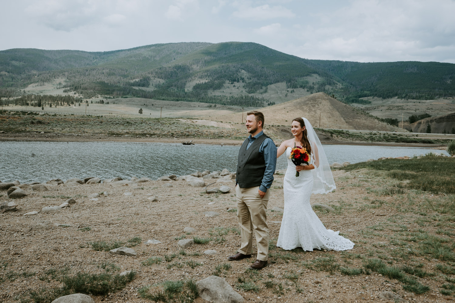 Colorado Wedding Photographer, Denver Botanic Gardens Wedding, Intimate Wedding, Windy Point Campground, lake dillon, elopement photographer, first look