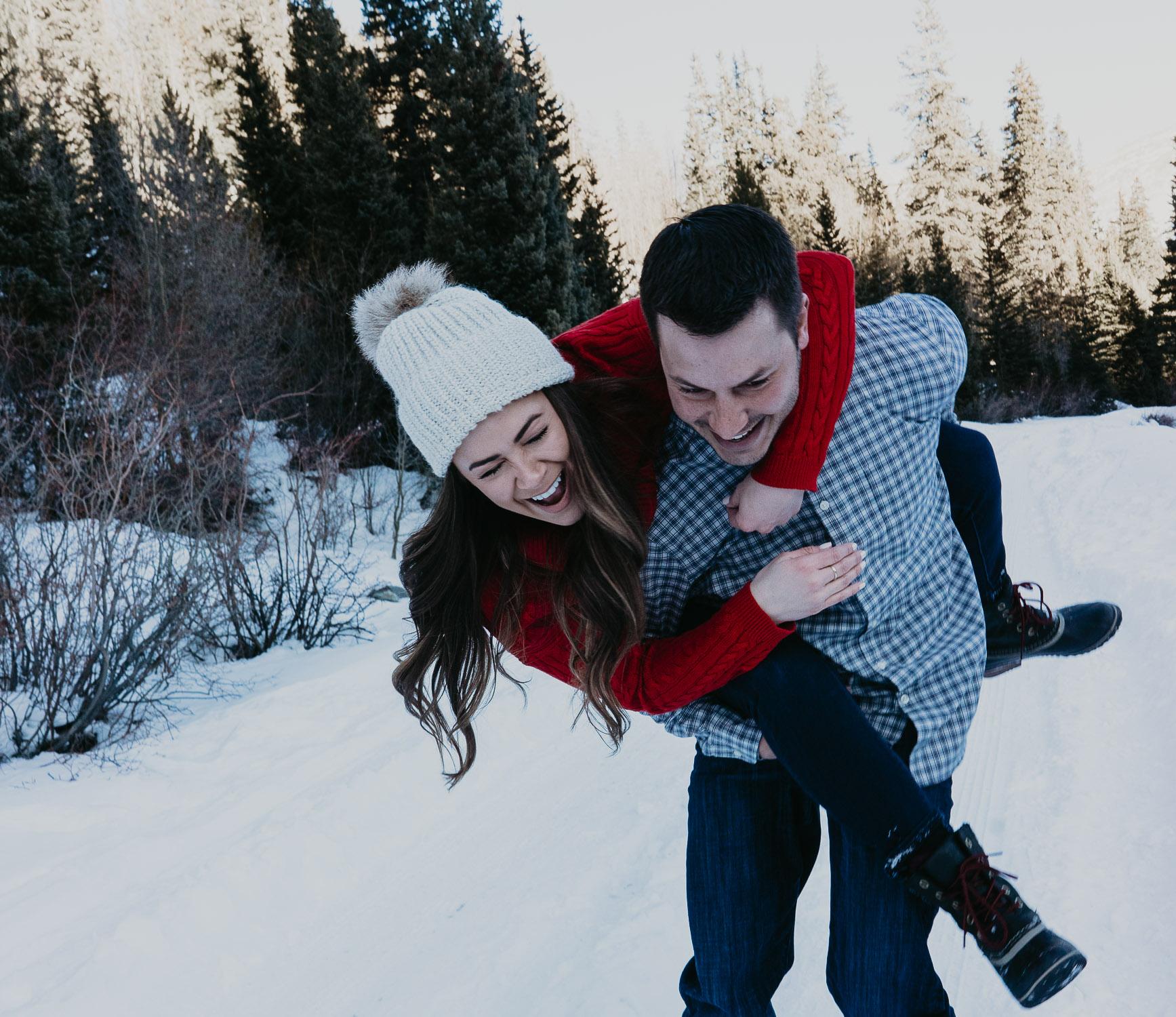 Colorado Engagement Photographer, Adventure, Elopement, Couple Photography, Breckenridge, winter, snow