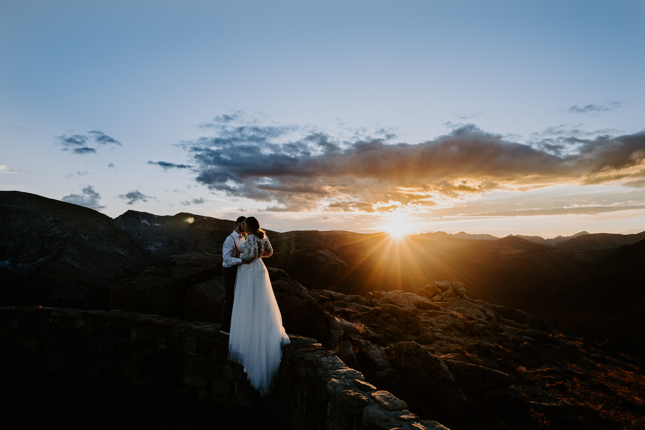 Colorado Elopement Photography, Rocky Mountain National Park, Estes Park, Sunset