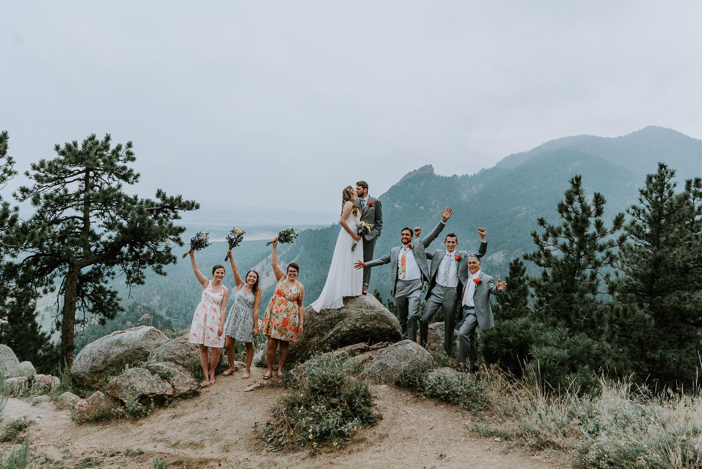 wedding party, Sunrise Amphitheater Wedding, Boulder Wedding Photography, Boulder Theater, Colorado, Elopement