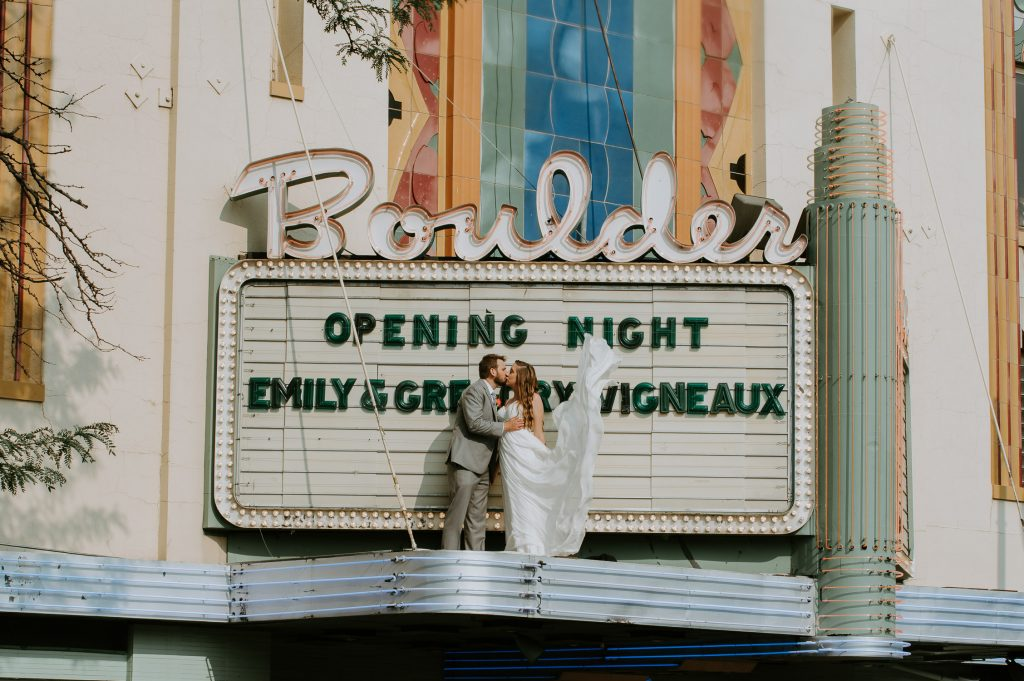 Boulder Wedding Photography, Boulder Theater, Colorado, Elopement