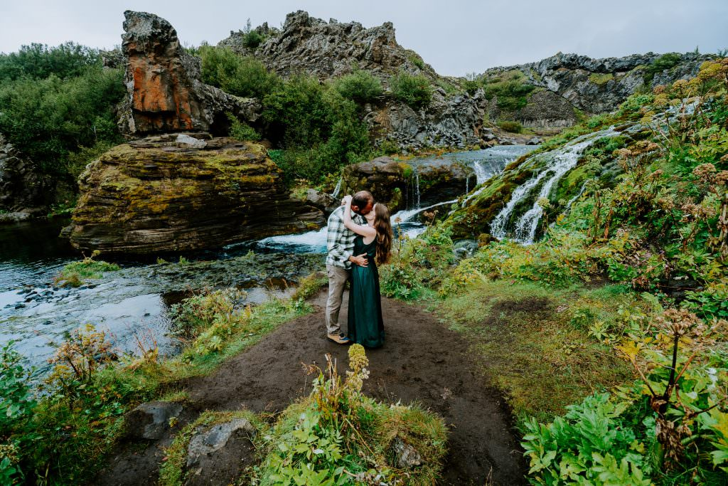 Iceland Adventure Photoshoot, Iceland Engagement Photography, Iceland Elopement Photography, Iceland Wedding, Iceland Elopement Photographer, waterfalls, highlands