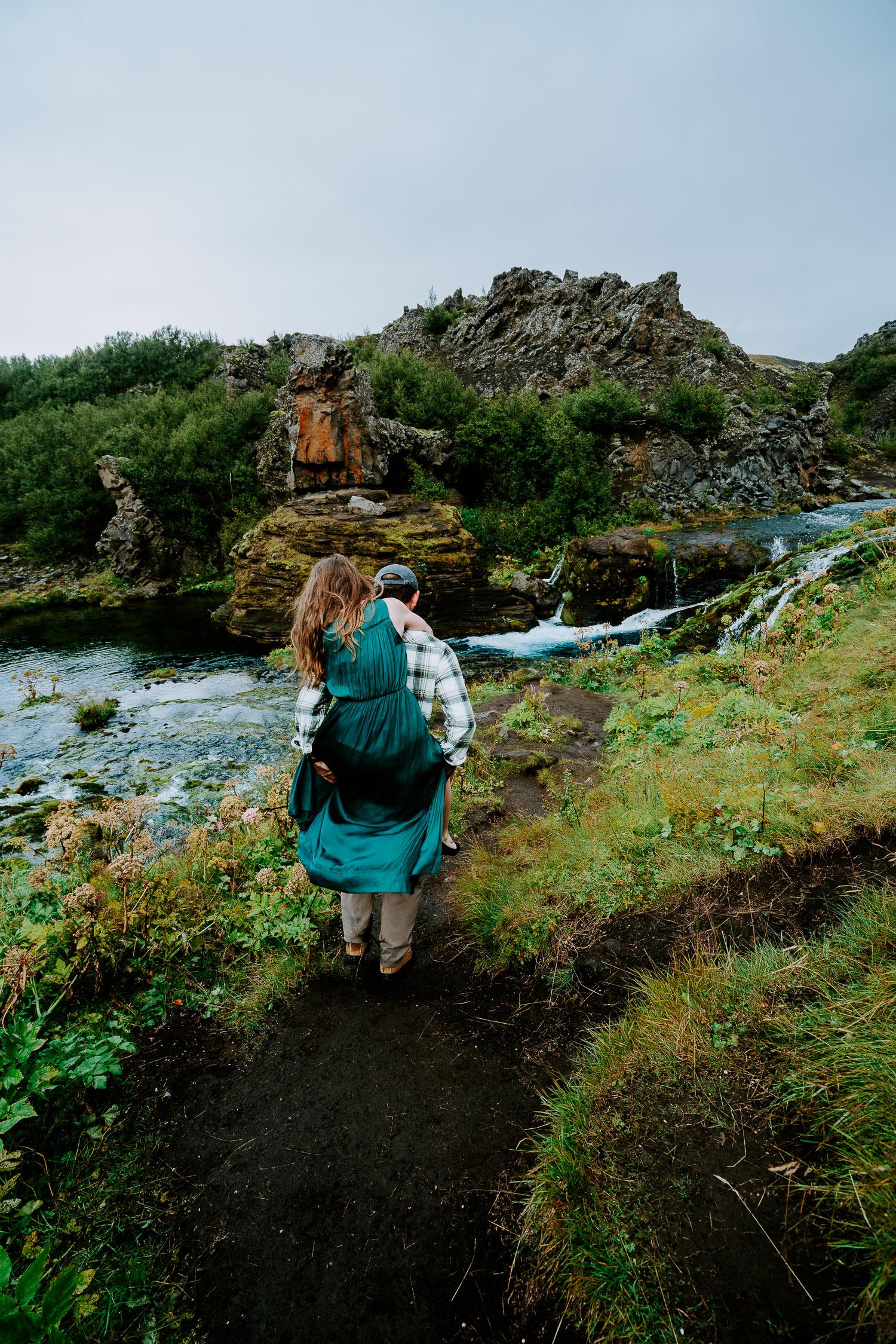 Iceland Adventure Photoshoot, Iceland Engagement Photography, Iceland Elopement Photography, Iceland Wedding, Iceland Elopement Photographer, waterfalls, highlands
