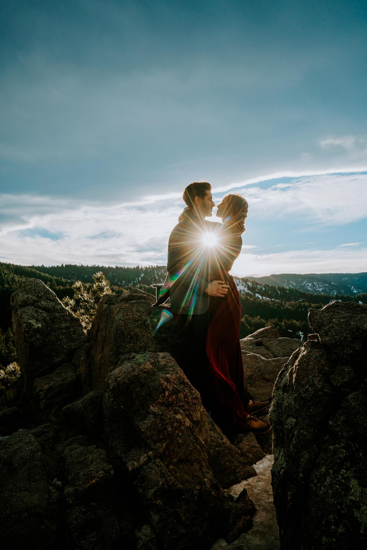 Boulder Adventurous Engagement, Boulder Engagement Photographer, Colorado Engagement Photographer, Colorado Couples Photography, Adventure Couples Photography, Lost Gulch lookout