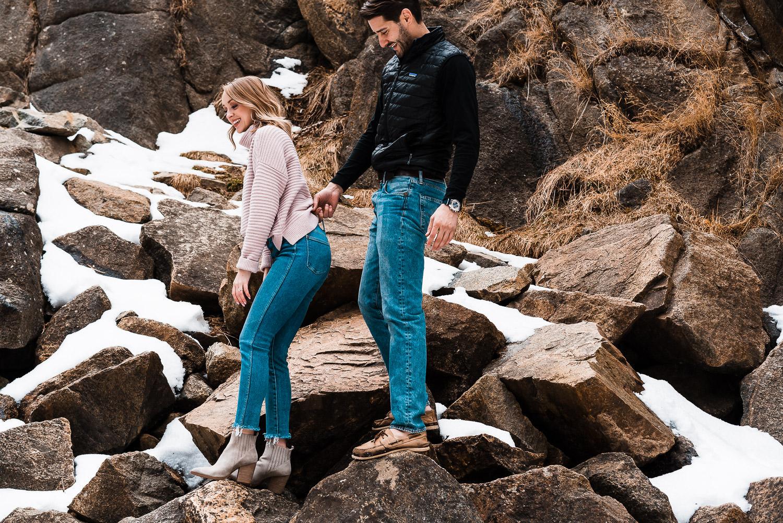 Boulder Adventurous Engagement, Boulder Engagement Photographer, Colorado Engagement Photographer, Colorado Couples Photography, Boulder Falls
