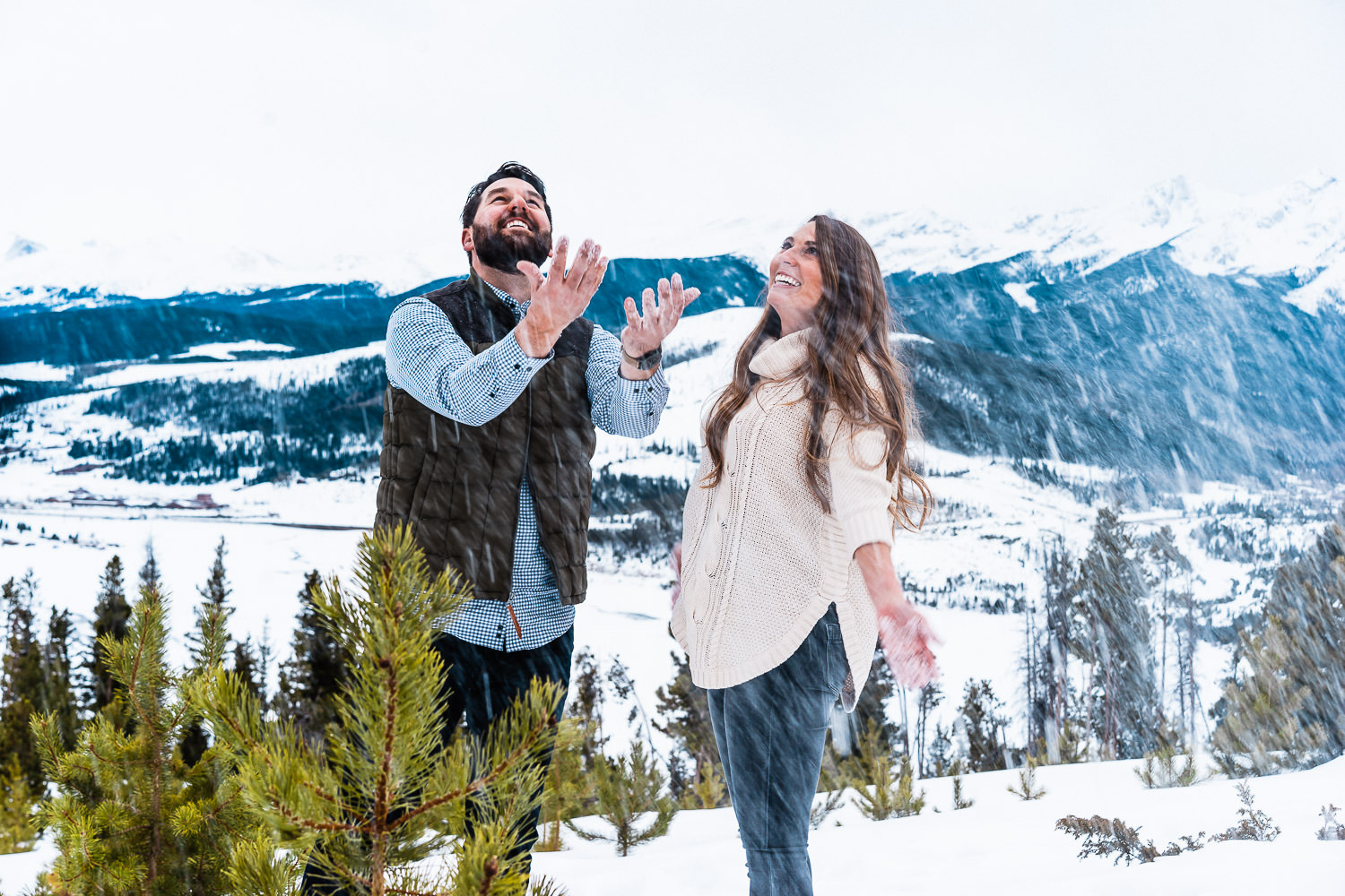 Sapphire Point Engagement, Colorado Engagement Photography, Winter Engagement, snow