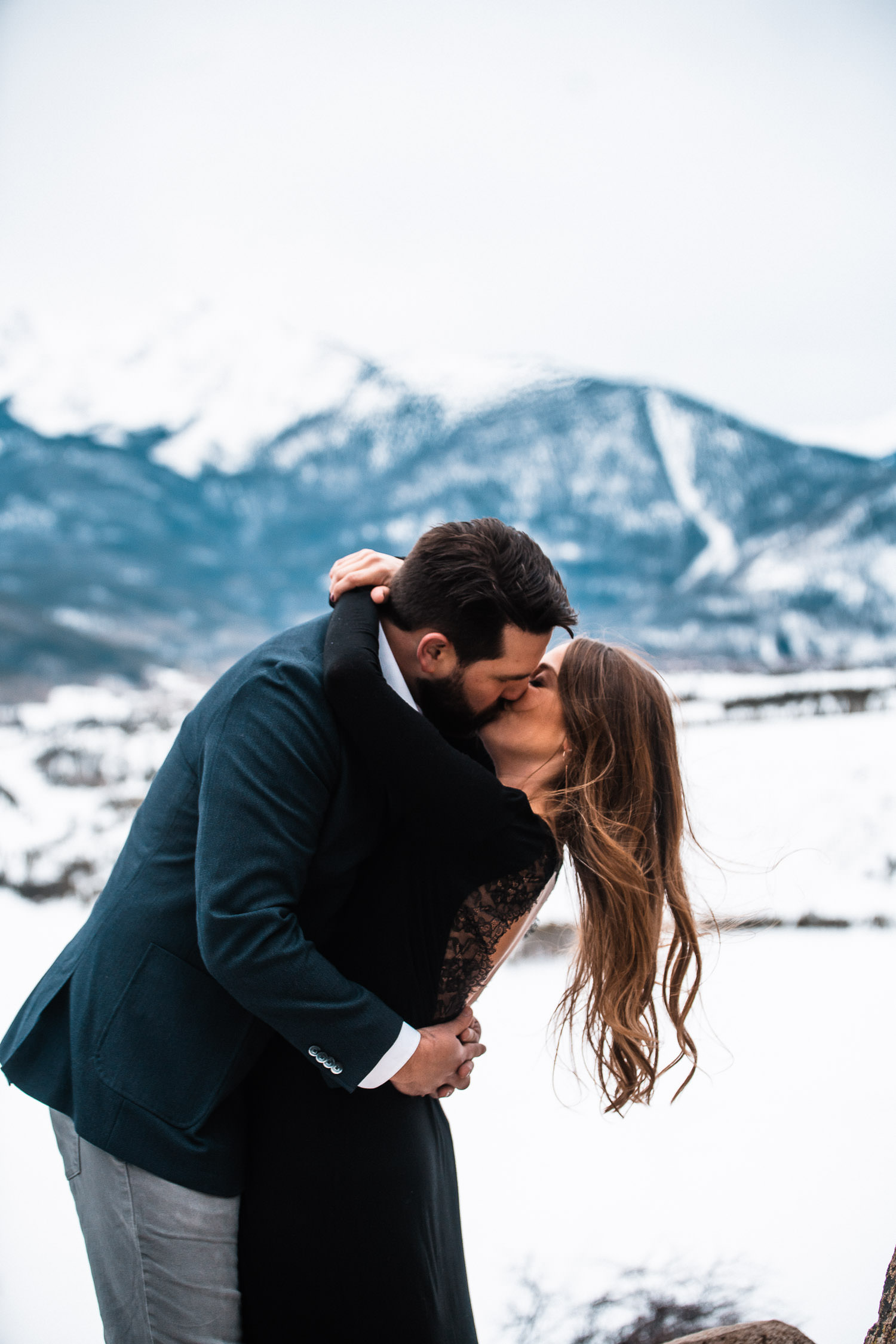 Sapphire Point Engagement, Colorado Engagement Photography, Winter Engagement