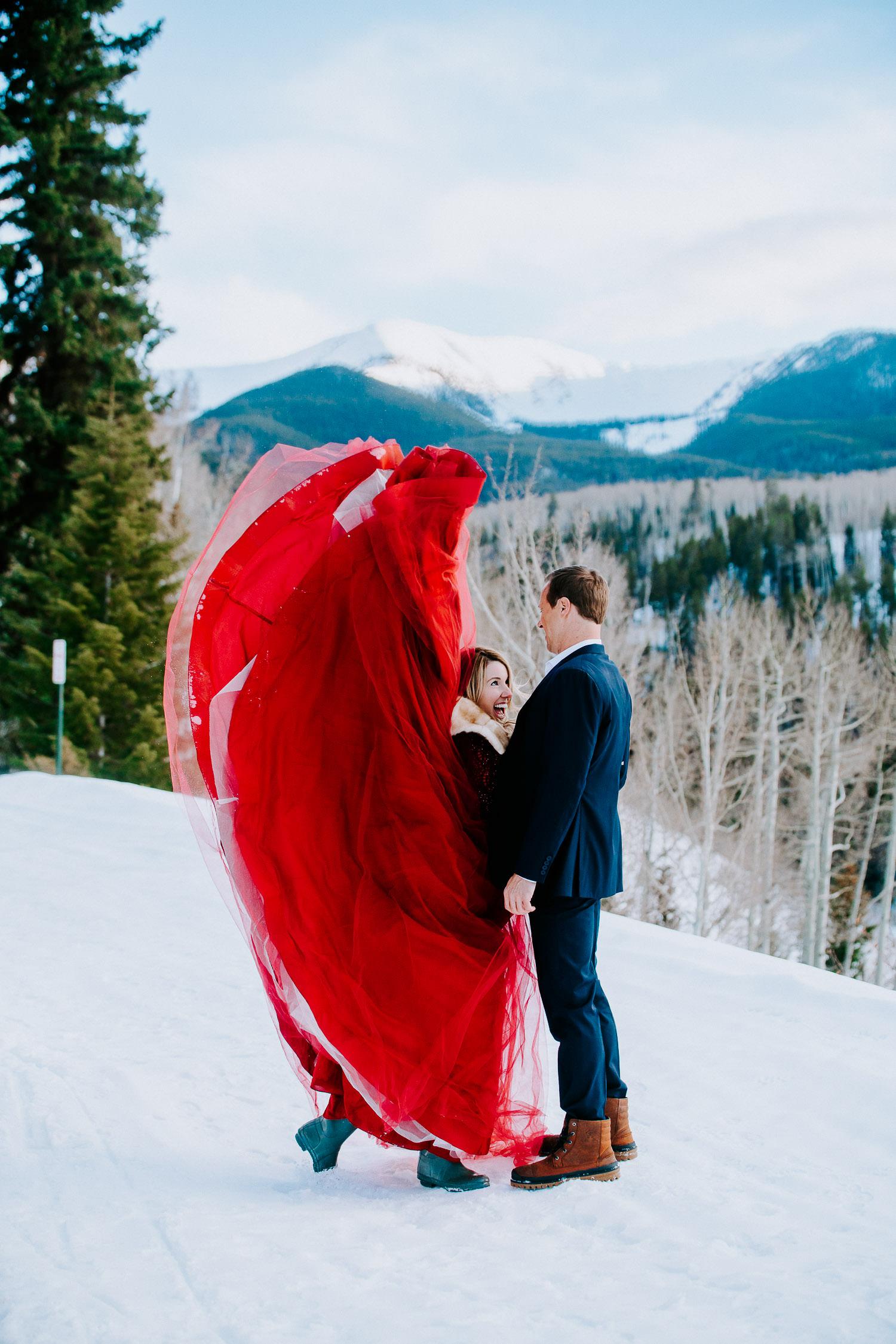 Colorado Winter Engagement Photography, Sylvan Lake,