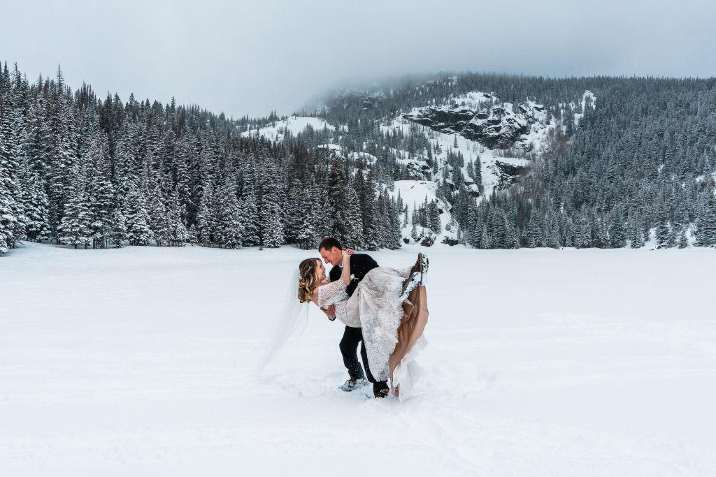 Rocky Mountain National Park Winter Elopement, Colorado