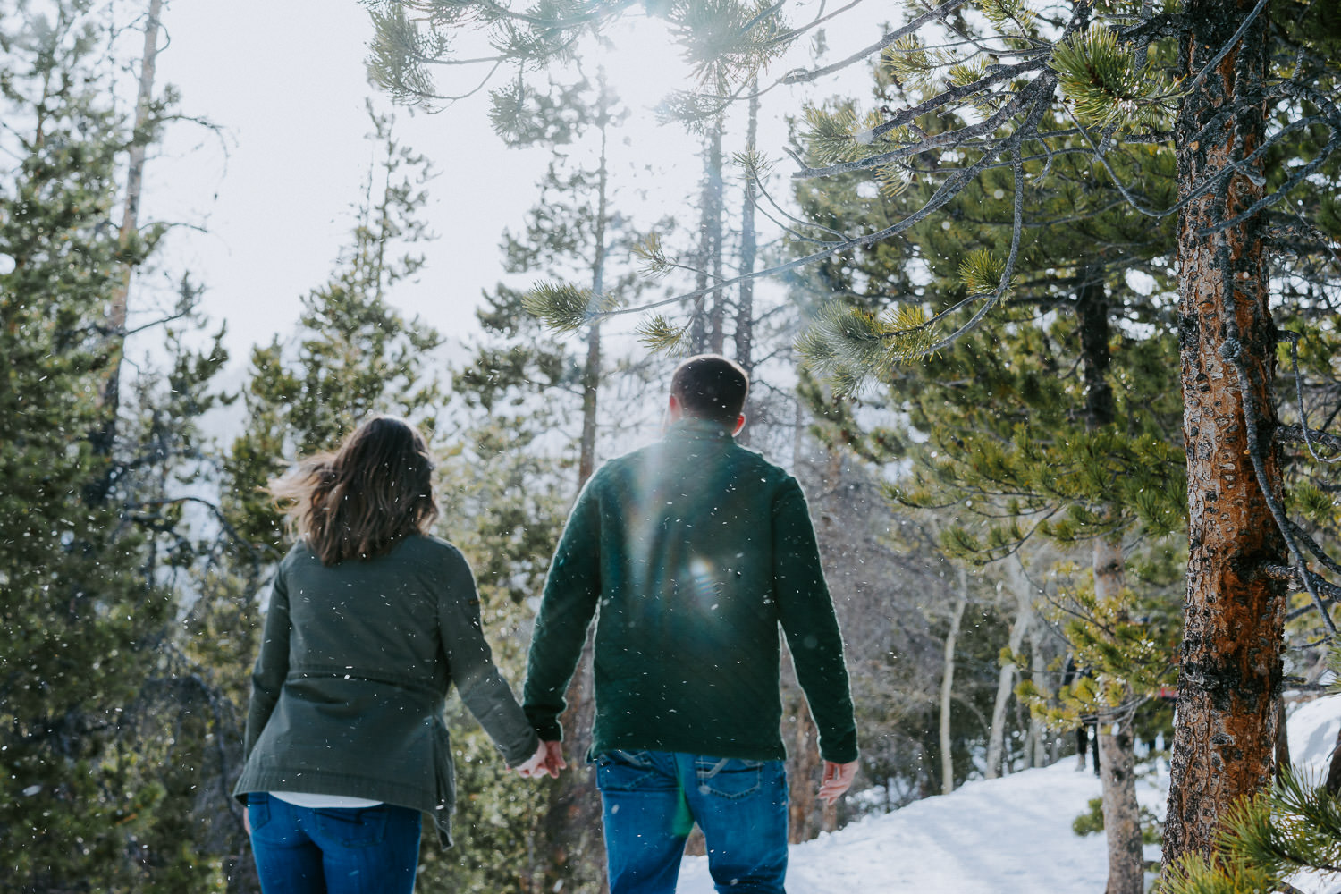 Rocky Mountain National Park Winter Engagement