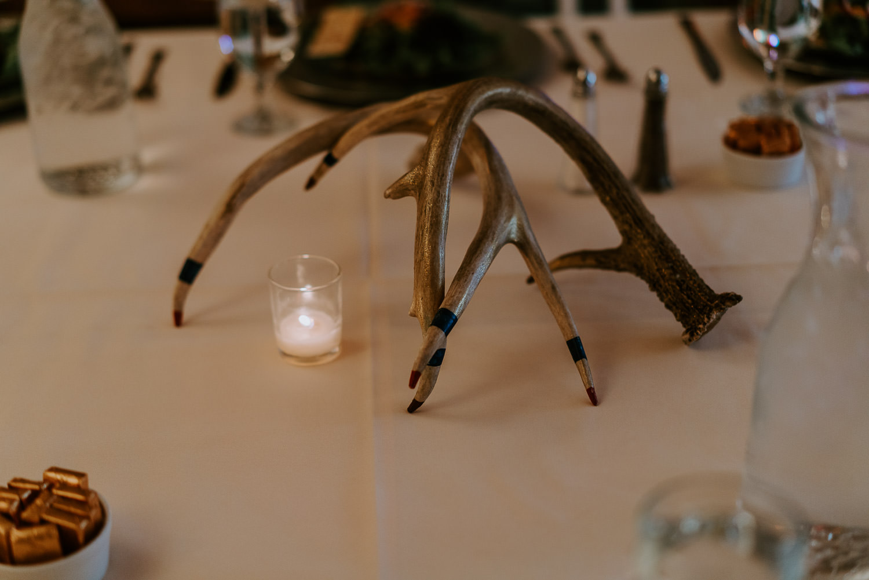 daven haven, woodsy wedding ceremony details