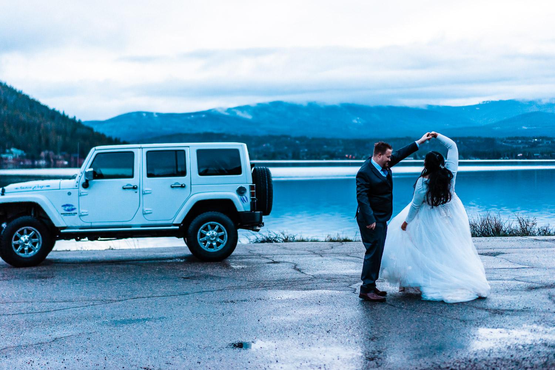 Grand Lake Elopement Colorado, jeep