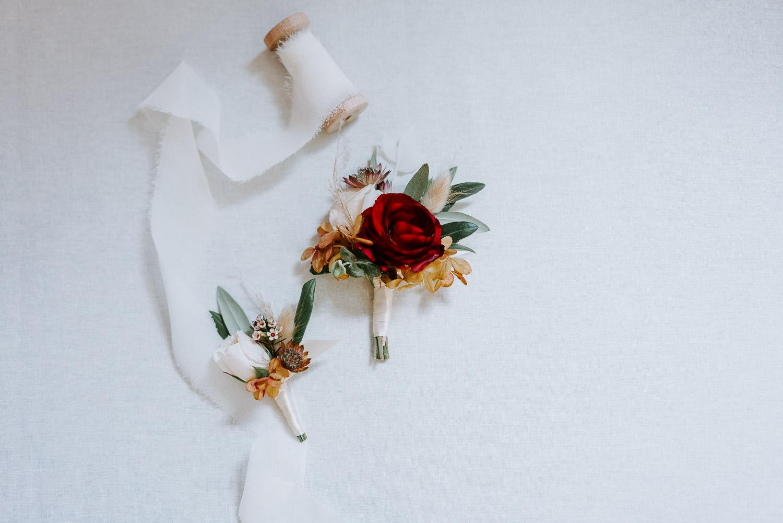 ruffly rose boutonniere