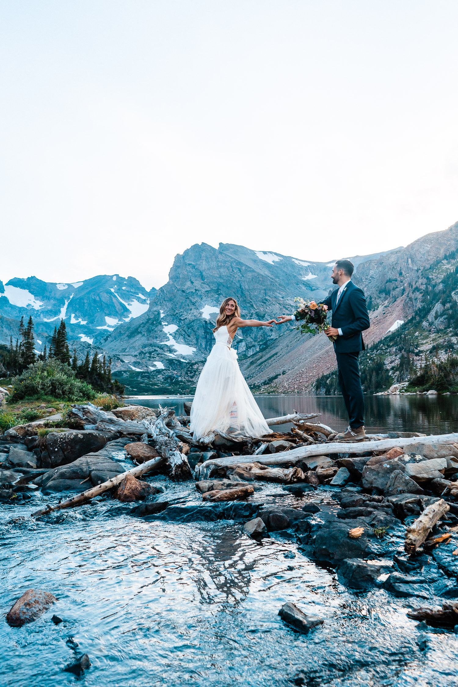 Lake Isabelle Hiking Elopement | Run Wild With Me Photography