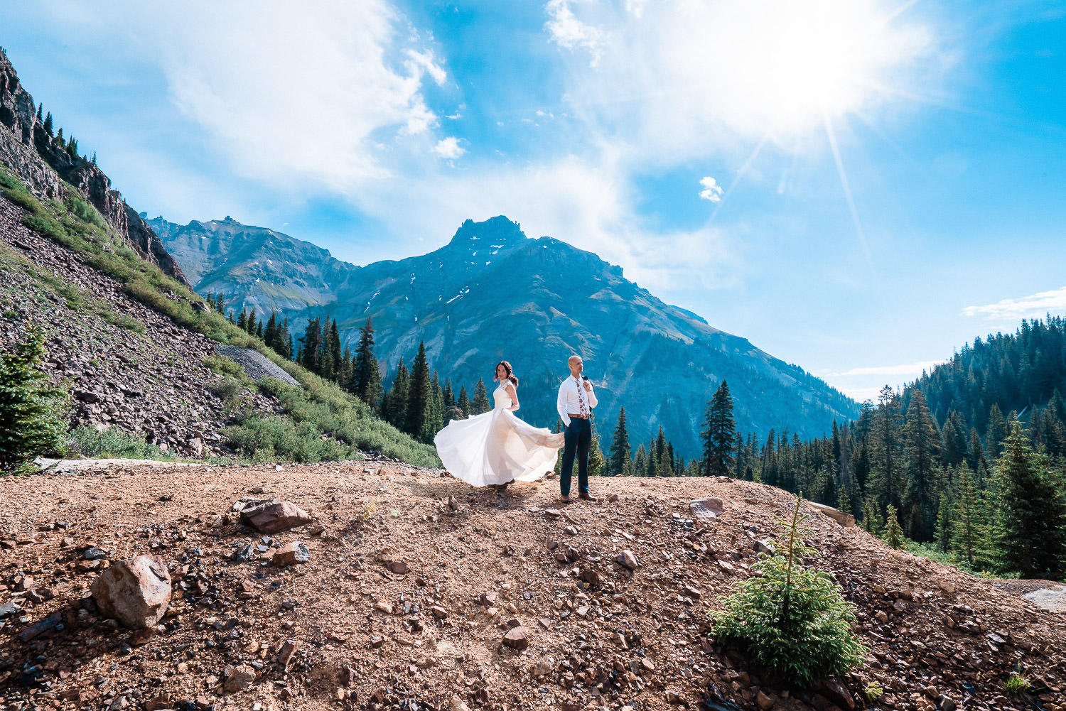 Best Place to Elope in Colorado | Ouray Elopement | Run Wild With Me Photography