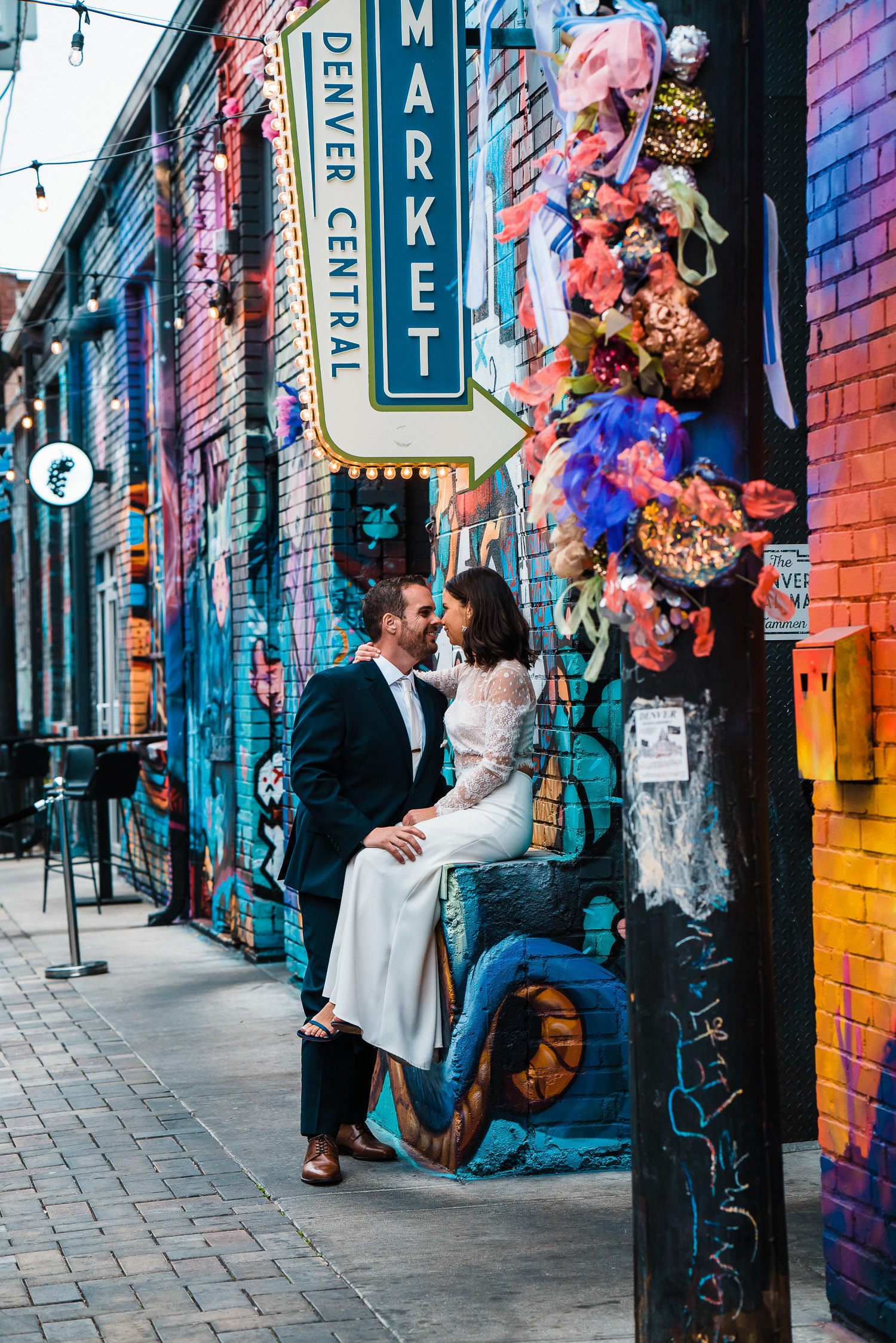 Best Place to Elope in Colorado | Denver RiNo Elopement | Run Wild With Me Photography